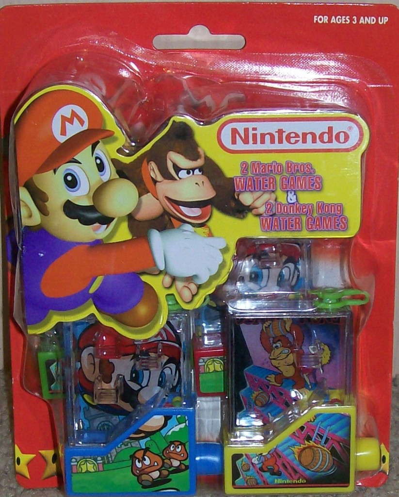 Mario Party water toys front of packaging