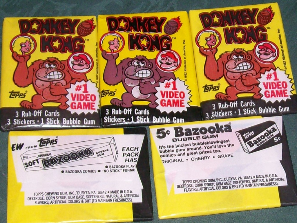 Topps 1982 Donkey Kong Cards, Stickers and Gum