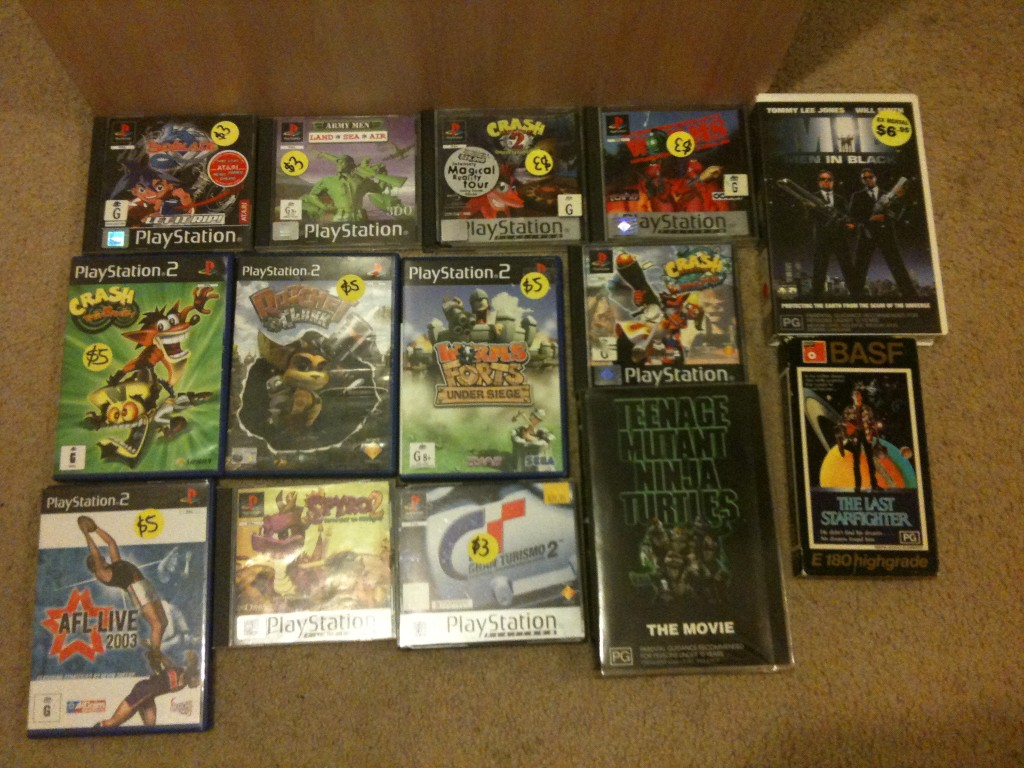 ps1 and ps2 games from garage sale