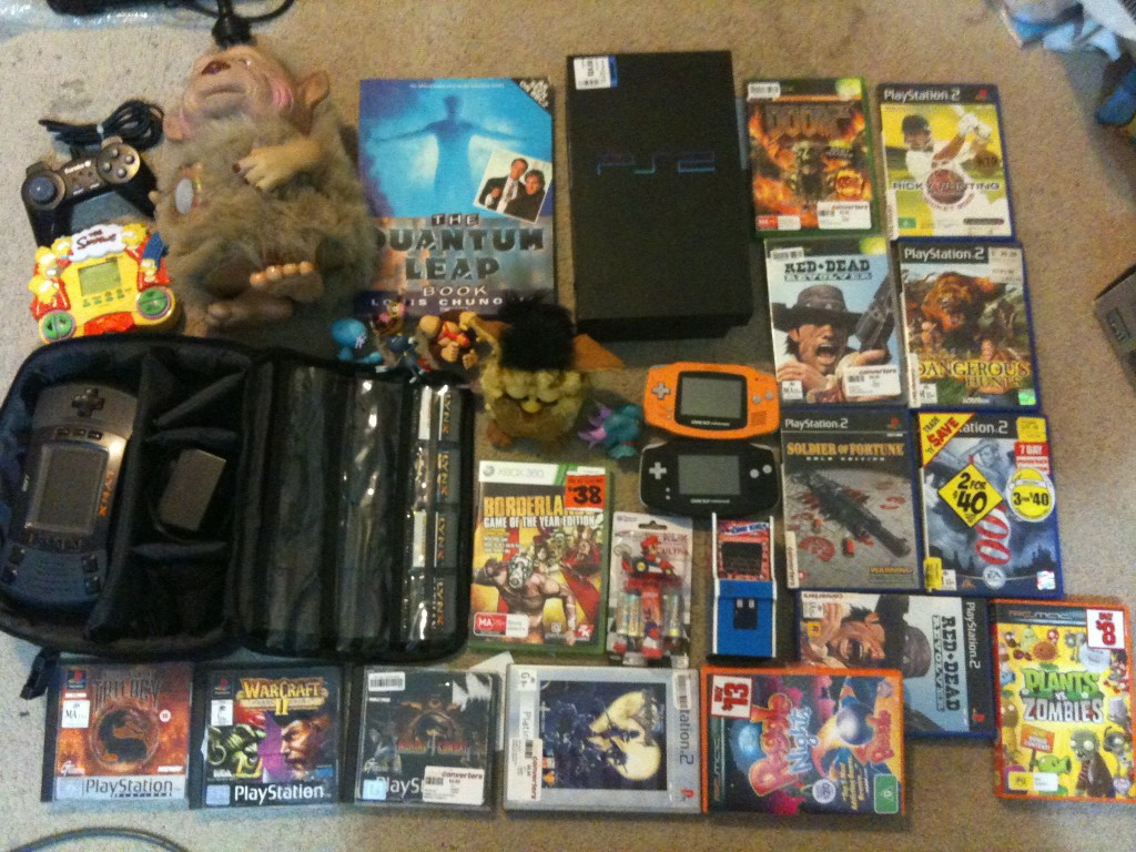 yano, ps2, atari lynx and other items bought in Feb-March 2011