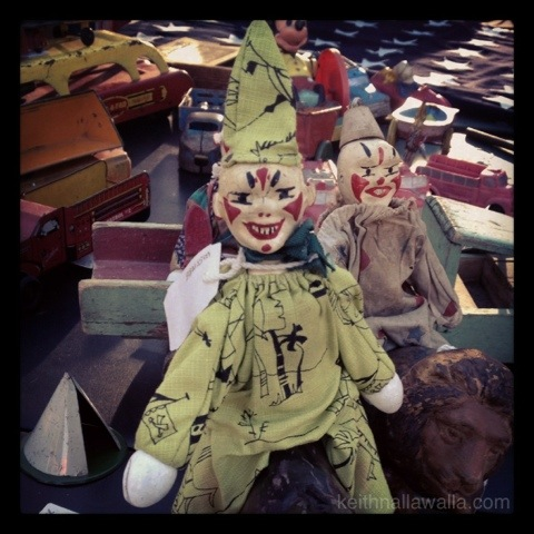 scary vintage clown doll